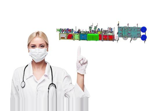 Produktionslinie für Atemschutzmasken