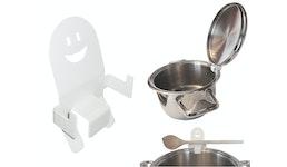 Topfdeckelhalter Deckelhalter Kochlöffelhalter Überkochschutz - Spülmaschinen geeignet