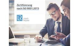 Zertifizierung nach ISO 9001:2015 - Qualitätsmanagement