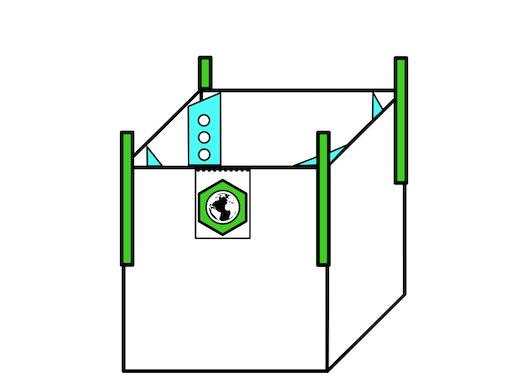 Formstabiler Big Bag 70x110x100cm,SWL 1250kg,SF:5:1