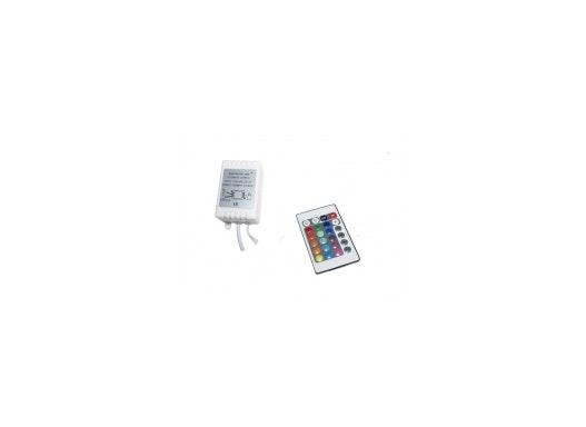 RGB Controller für Lichtbänder inkl. 24-Tasten-Infrarotfernbedienung