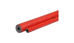 Rohrisolierung PE-rot - rund - robuste Aussenhaut