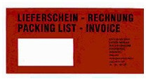 Dokumententaschen Lieferschein-Rechnung