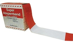 Absperrband Länge 100 m Breite 80 mm rot/weiß geblockt 100m/Karton