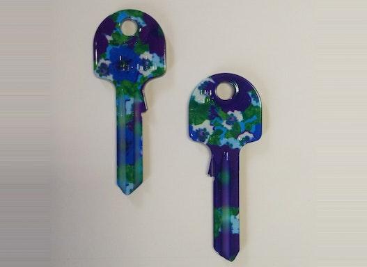 Keyline Hausschlüssel UL054 mit verschiedenen Blumen-Motiven