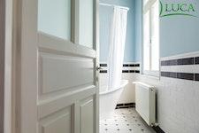 Wooden interior doors with overlight