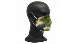 FFP2 Maske Camouflage Grün