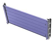Hochwasserschutztüren - BL/HDS: Hochwasserschutz Dammbalken-System - Aluminiumprofil 200 x 50 x 4 mm