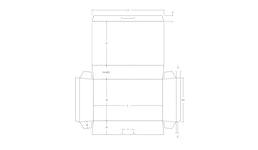 ECMA B4150 - K - konische Krempelverpackung - technische Zeichnung ikMaier Kartonagen Hersteller