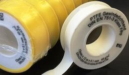 Teflondichtband FRp für Feingewinde und Rohrverschraubungen in der Gas- und Wasserversorgung