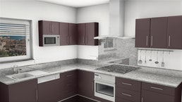 Küchenarbeitsplatte Granit Gris Nevada