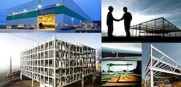 Industrieller Stahlhochbau