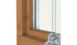 Kunststofffenster 88+ Aludeck eckig