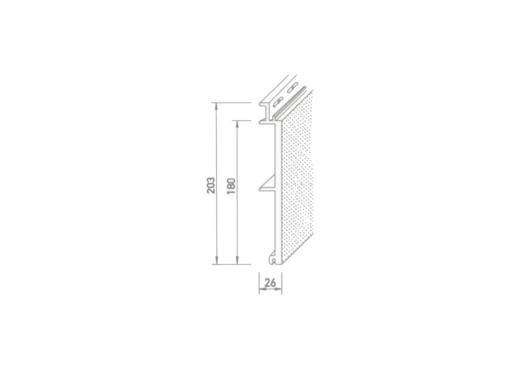 vinyTherm®  Fassadenprofil  ohne Fase