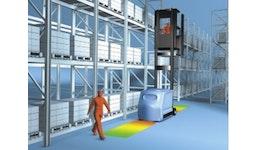 Sicherheitseinrichtung für Flurförderzeuge im Hochregallager nach DIN 15185-2, Personenschutzanlagen (PSA) für Schmalgan