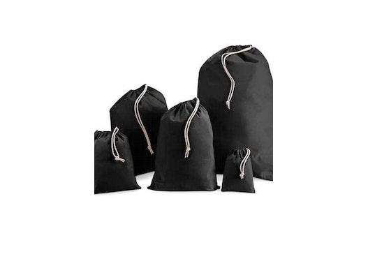 Cotton Stuff Bag black XS