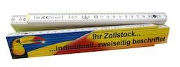 Gliedermaßstab 2m individuell bedruckt - ein- und zweiseitig
