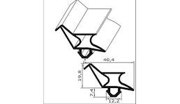Kühl- und Gefrierschrank-Ersatzdichtung - Profil Nr. CGK-2173