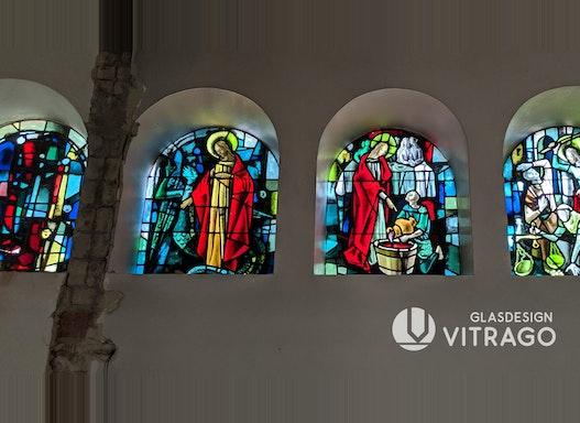 Glasmalerei, Kunstverglasung, Bleiverglasung, Schutzverglasung, Betonverglasung, Fenster-Restaurierung, Sanierung