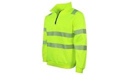 Arbeitsschutz: Warnschutz Sweater Half-Zip EN ISO 20471, Klasse 3, GipfelStürmer No.18