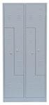 Z-Spind 400 mm pro Abteil/ 2 Abteile mit 4 Türen