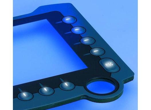 Folientastaturen im Nachtdesign: EL-Folien und Profiline hinterleuchtet