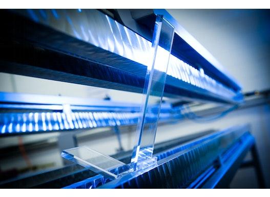 Verformung von Plexiglas Acryline Formen von Kunststoffen