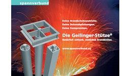 Geilinger-Stütze®: Die brandsichere Stahlstütze mit natürlichem Brandschutz