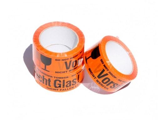 """Klebeband orange Warnhinweis """"Vorsicht Glas"""" - PP"""