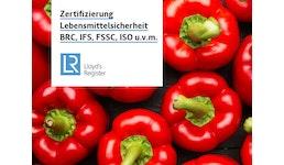Zertifizierung Lebensmittelsicherheit