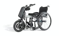 Elektrischer  Zusatzantrieb für Rollstühle
