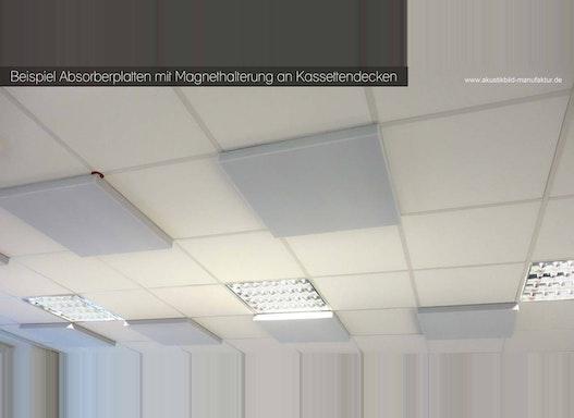 Akustikdecke bzw. Schallabsorber für Rasterdecken für Call-Center-Einrichtungen, Büroeinrichtungen
