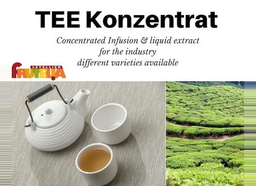 Tee konzentrierte Auszüge Extrakte Infusion