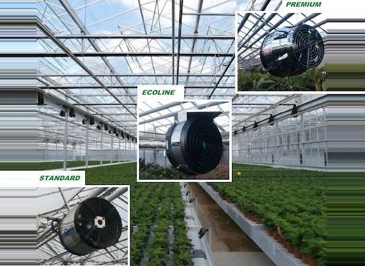 Die neuentwickelten hocheffizienten Gewächshaus - Ventilatoren