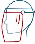 Folie für Gesichtsschutz Face Protection Spartech PETG