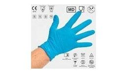 Nitril-Handschuh, blau, S-M-L-XL