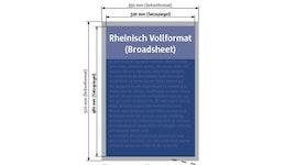 Zeitung Rheinisches Vollformat (Broadsheet)