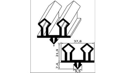 Kühl- und Gefrierschrank-Ersatzdichtung - Profil Nr. CGK-401