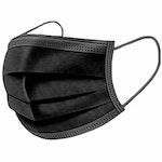 Einwegmaske in Premiumqualität Schwarz