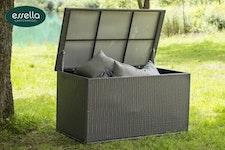 Kissenboxen - Polyrattan Kissenbox XL Flachgeflecht