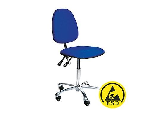 Arbeitsstuhl in antistatischer Ausführung, leitfähig VKG C-100 ESD blau