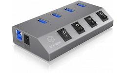ICY BOX 4 Port Hub & Charger USB 3.0 IBHUB1405 Aluminium