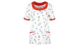 Kasack 2384 von BEB / Kindermotiv - weiß / 35Pr. Baumwolle 65Pr. Pol...| Berufsbekleidung für den medizinischen Bereich