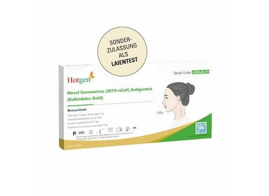 Hotgen Corona Antigen Schnelltest Laientest  vorderer Nasenabstrich   Einzelpackung