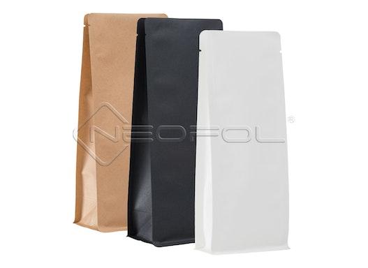 BOXpack® Flachbodenbeutel Kraftpapier/BOPA/PE