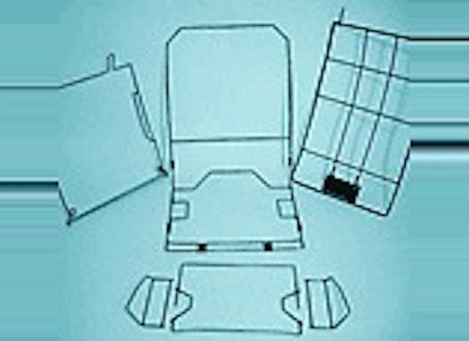 Herstellung von Drahtrahmen und Metallteilen für Sitzteile, Rückenteile, Kopfstützen und Armlehnen.