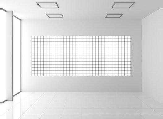 Magnetische Whiteboardfolie kariert | selbstklebend | für Magnete
