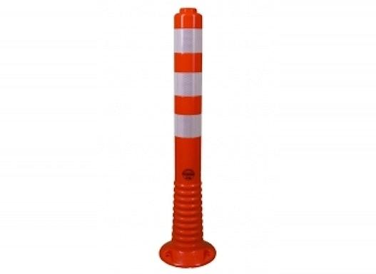Flexibler Absperrpfosten, Ø 70 mm, orange, überfahrbar