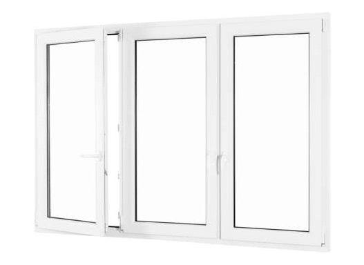 3-flügliges Kunststofffenster DKL/Fest/DKR weiß