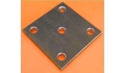 Stahl S235JR Ankerplatte 5 Löcher